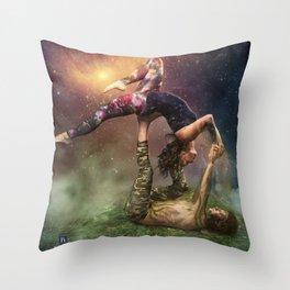 Cosmic Unity Throw Pillow