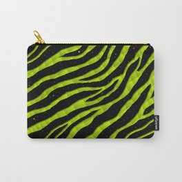 Ripped SpaceTime Stripes - Lime Yellow Carry-All Pouch