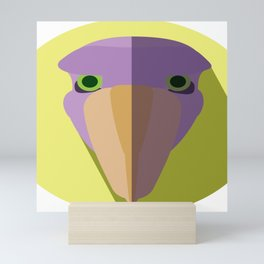 Purple Shoebill Stork Icon Mini Art Print