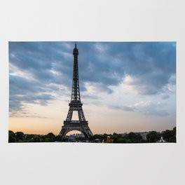 Eiffel Tower Paris Before the Storm Rug