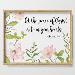 The Peace of Christ Serving Tray