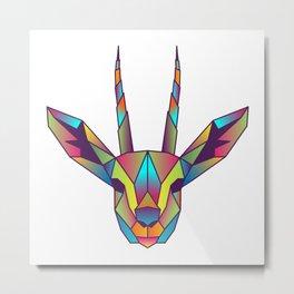 Gazelle | Geometric Colorful Low Poly Animal Set Metal Print