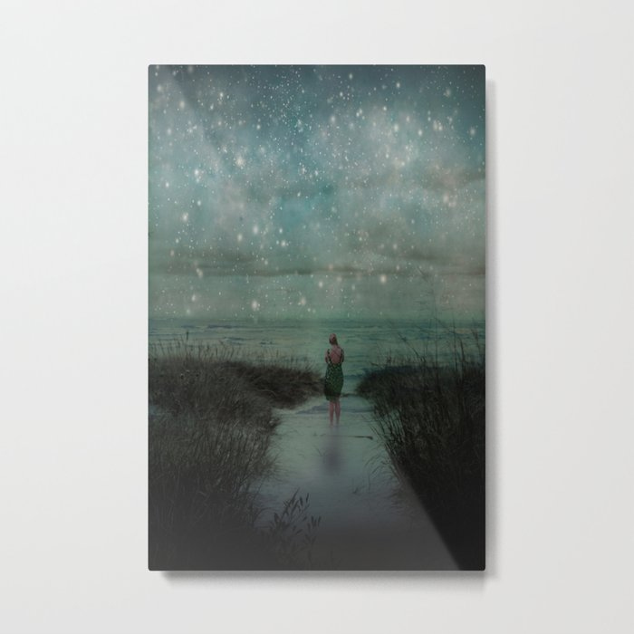 Stars in the Night Sky Metal Print