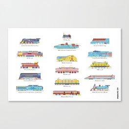 Train collector Canvas Print