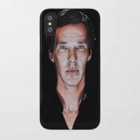 benedict cumberbatch iPhone & iPod Cases featuring Benedict Cumberbatch  by Cécile Pellerin
