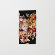 Watercolor Floral Pattern Hand & Bath Towel