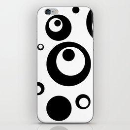 Circles Dots Bubbles :: White Salt iPhone Skin