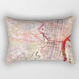 Philadelphia map Rectangular Pillow