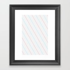 Simple Lines Framed Art Print