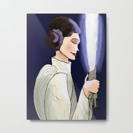 Sleep Well, Princess Metal Print