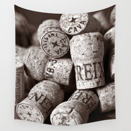 Cork of Champagne - Brown Duplex Wall Tapestry