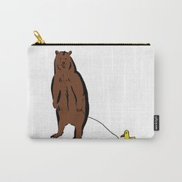 Brown Bear with Rubber Duck Carry-All Pouch