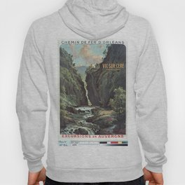 Vintage French Travel Poster: Excursions to Auvergne (1900s) Hoody