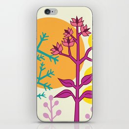 Ibiza flowers 2 iPhone Skin