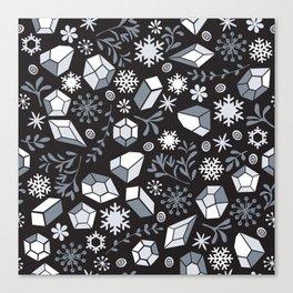 Winter diamonds Canvas Print