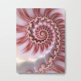 Candy Cane Fiesta - Fractal Art Metal Print