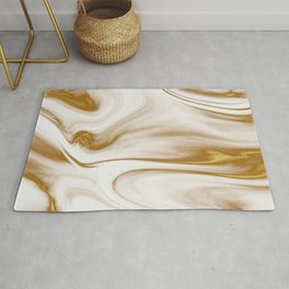 Gold Marble Milky Gold Swirl Rug