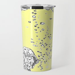 Two Tailed Duck and Jellyfish Baby Yellow Travel Mug