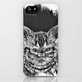 CAT OBSERVING iPhone Case
