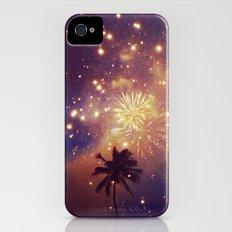Palm tree fireworks Slim Case iPhone (4, 4s)