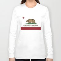 oakland Long Sleeve T-shirts featuring Oakland California Republic Flag by NorCal