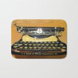 corona vintage typewriter Bath Mat