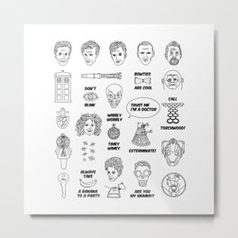 Doctor Who Collective Illustration Metal Print