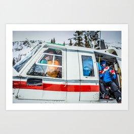 Heli-Ski Art Print