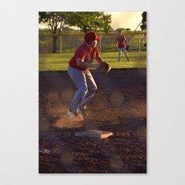Baseball Action Canvas Print