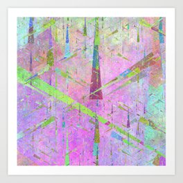 Triangle city Art Print