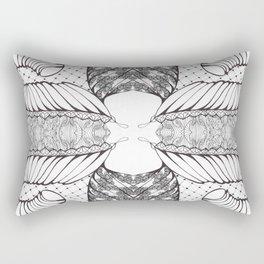 Black and White Zen Doodle 4 Rectangular Pillow