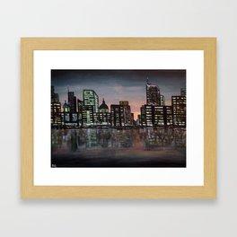 City Skyline - Acrylic Framed Art Print