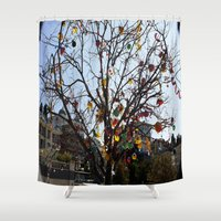 """bicycles Shower Curtains featuring Bicycles  by  (""""3"""")"""
