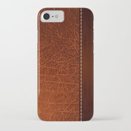 Brown leather look #2 iPhone Case