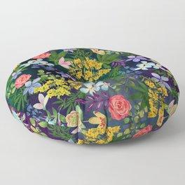 Flowery Marijuana Floor Pillow