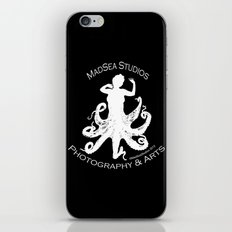 MadSea Nymph, white on black iPhone & iPod Skin