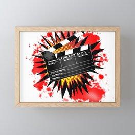 Christmas Clapperboard Framed Mini Art Print