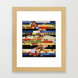 Glitch Pin-Up Redux: Jessica Framed Art Print