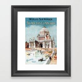 Vintage 1893 Chicago World's fair expo Framed Art Print