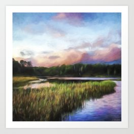 End Of The Day - Landscape Art Art Print