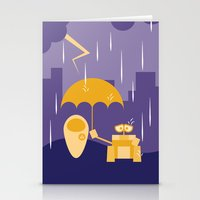 wall e Stationery Cards featuring Wall-E by Gardner Art and Design