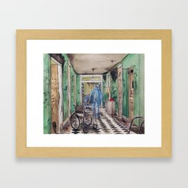 Aged Hospice Abandoned I Framed Art Print
