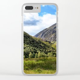 A walk in the Scottish Highlands, Glencoe. Clear iPhone Case