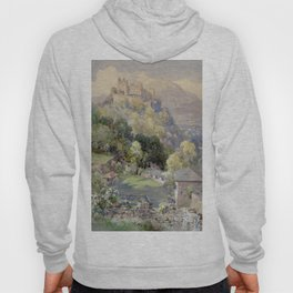 Overlooking the Hohenwerfen Fortress in Salzburg by Edward Theodor Compton Hoody