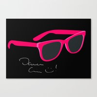 darren criss Canvas Prints featuring Darren Criss Glasses by byebyesally