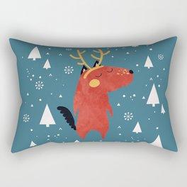 Merry Christmas Dog Card 2 Rectangular Pillow