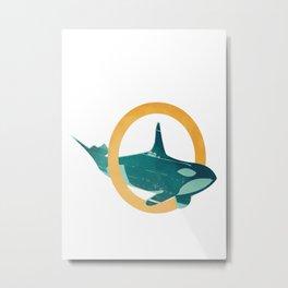 O - Orca Metal Print