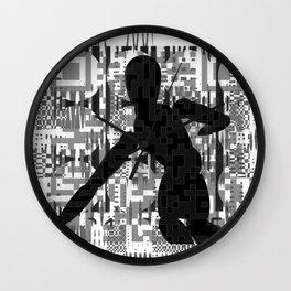 QR codeman Wall Clock