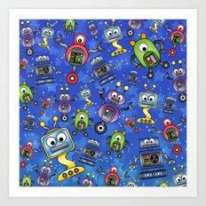 Little Robots  Art Print
