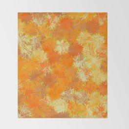 Pumpkin Tumbleweeds Throw Blanket